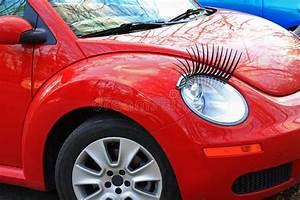 Cils Pour Voiture : voiture rouge avec des cils photo stock image du doublure femelle 39112858 ~ Melissatoandfro.com Idées de Décoration