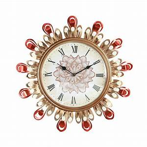 fancy, wall, clocks, colorful, hanging, creative, unusual, metal, large, 16, inch