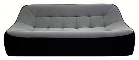 dunlopillo canape canapé droit tchubby by ora ito xl l 200cm noir gris
