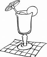 Glass Margarita Coloring Pages Napkin Template Cocktail sketch template