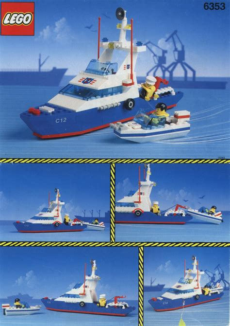 Lego Coastal Cutter Instructions 6353, Town