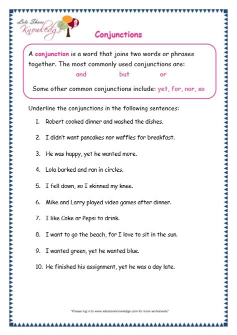 conjunctions worksheets year 34 proving lines parallel