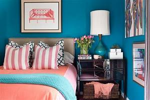 A Small Bedroom Packed With Cool, Caribbean Colors HGTV