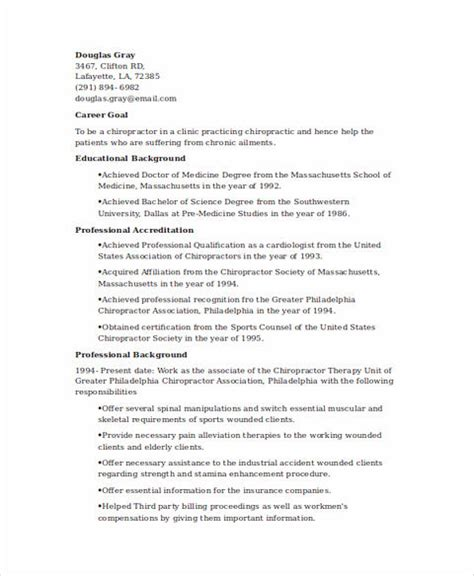 Chiropractic Assistant Resume Sle by State And Clear Objectives In Chiropractic Assistant
