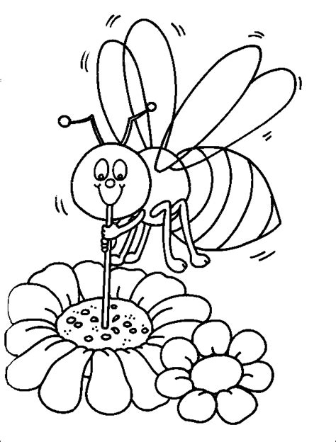 Coloring Bee by Bee Coloring Pages Coloringpagesabc