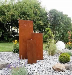 Gartenbrunnen Aus Cortenstahl : cortenstahl gartenbrunnen mit led quellbeleuchtung trio 10 ~ Sanjose-hotels-ca.com Haus und Dekorationen
