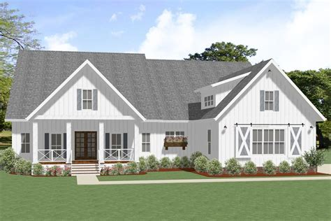 Plan 46385LA: Exclusive New American Ranch Home Plan in