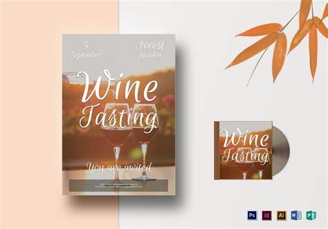 wine tasting flyer design template  psd word publisher