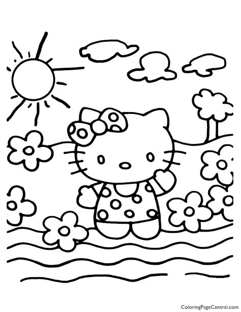 Hello Kitty Coloring Page 20 Coloring Page Central