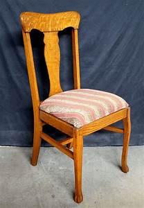 About A Chair : antique quartersawn oak wood fiddle back dining side chair ~ A.2002-acura-tl-radio.info Haus und Dekorationen
