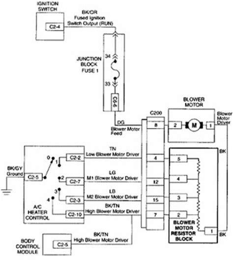 1992 Dodge Dakotum Ignition Wiring Diagram by Dodge Dynasty 1992 Blower Motor Schematic Diagram All