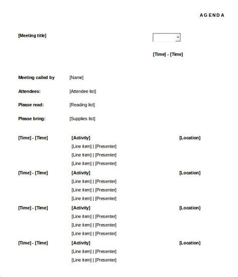 Time Agenda Template Word by 50 Meeting Agenda Templates Pdf Doc Free Premium