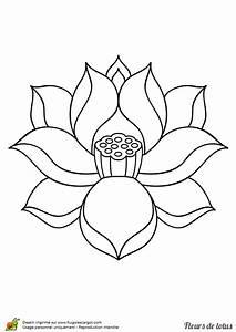 Dessin Fleurs De Lotus : coloriage belle fleur de lotus sur ~ Dode.kayakingforconservation.com Idées de Décoration