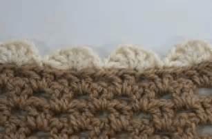 Crochet Shell Stitch Edging Pattern