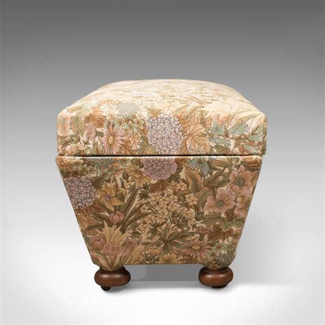 antique ottomans for antique ottoman upholstered chest c1870 4120
