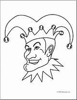 Jester Coloring Clip Abcteach sketch template