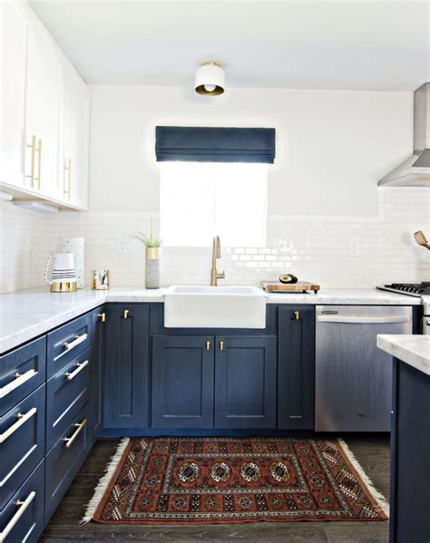 navy blue kitchen cabinets navy blue kitchens are gorgeous and trending purewow 3467