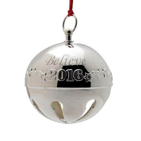 bell ornaments 2016 believe bell polar express bell silverplate ornament