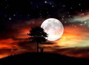 Night Sky Stars Moon Wallpaper | Wallpapers Background