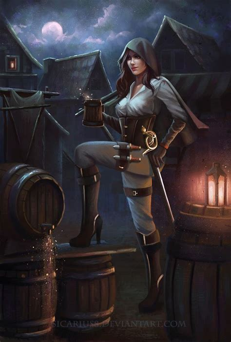 nea nightingale class rogue   fantasy art