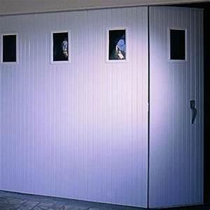 Porte de garage coulissante pvc cobtsacom for Porte de garage coulissante avec chatière porte pvc