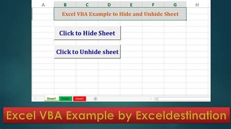vba code to hide and unhide sheets excel vba exle by