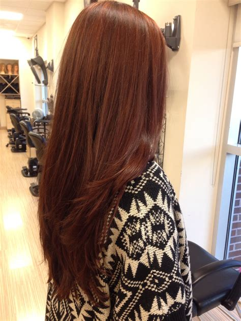Reddish Brown Hair Color Cheveux Cheveux Bruns Et