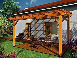 Stavba chaty na zahradě