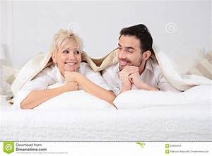 Man And Woman In Bed. Stock Photo - Image: 63802404