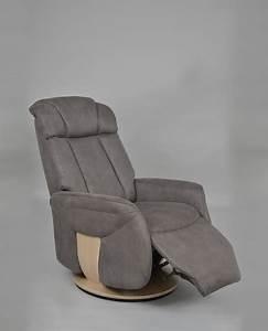 Fauteuil Pivotant Cuir : fauteuil relax fauteuil de relaxation square deco ~ Teatrodelosmanantiales.com Idées de Décoration