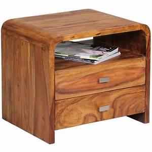 Table De Chevet Bois : table de chevet en bois massif de palissandre avec 1 tiroir 45 x 40 x 30 cm achat vente table ~ Teatrodelosmanantiales.com Idées de Décoration