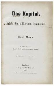 An ultra-rare signed first edition of Karl Marx's Das ...