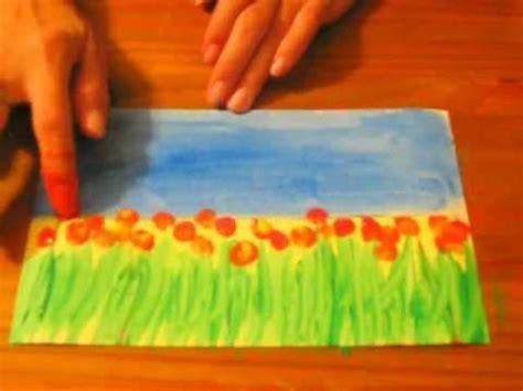 field  flowers  preschoolearly elementary painting