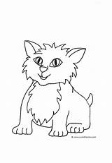 Coloring Cat Pages Drawings Draw Clip Cats Kitten Printable Drawing Kittens Easy Clipart Colors Clipartqueen sketch template