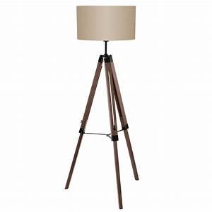 eglo vintage lantada single light tripod floor lamp in nut With floor lamp shade nut