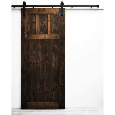 dogberry collections craftsman barn door with hardware