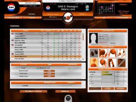 international basketball manager gameplay  youtube