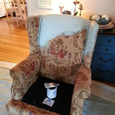 stenciling  upholstered chair