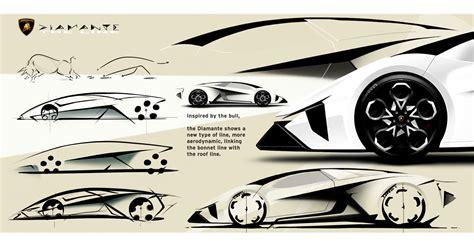 lamborghini diamante concept design sketches car body