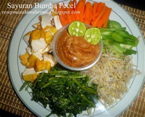 resep sayuran bumbu sambal pecel enak  praktis