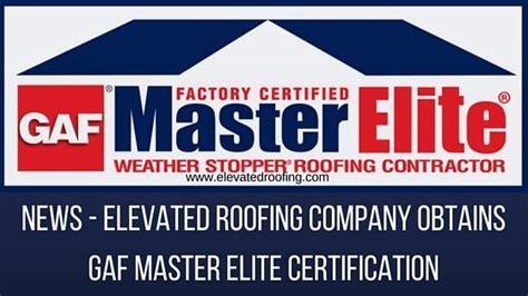 gaf master elite certification elevated roofing frisco tx