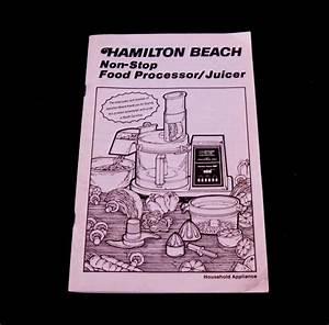 Hamilton Beach Food Processor Instruction