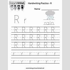 Kindergarten Letter R Writing Practice Worksheet Printable  Future Classroom  Writing Practice