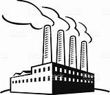 Factory Building Vector Illustration Drawing Classic Clipart Sketch Pollution Air Getdrawings Istock sketch template
