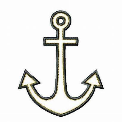 Anchor Clip Clipart Cross Anchors Simple Outline