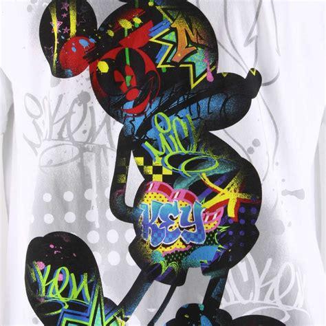 disney tshirt hybrid apparel graffiti mickey mouse graphic 2dny097