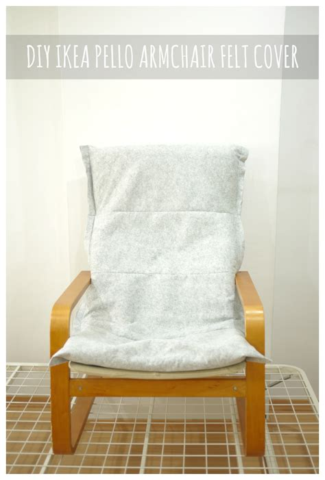 Ikea Pello Chair Cushion by Make Diy Ikea Pello Poang Chair Felt Cover Making It