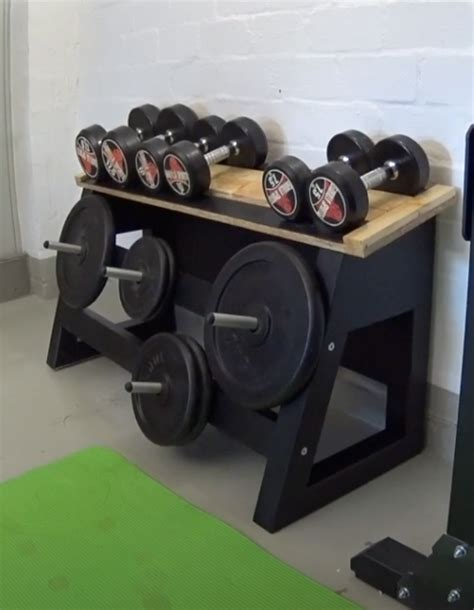 diy dumbbell rack plans home gym build