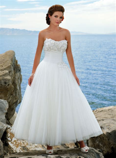 ankle wedding dress tea length wedding dresses for your choice