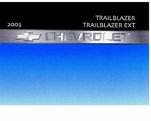 2003 Chevrolet Trailblazer Owners Manual